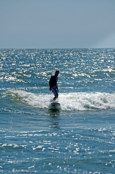 Northeast wind provided good surfing...