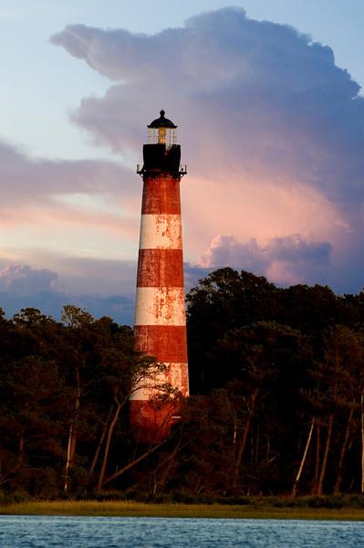 """""""Guiding Light2""""- Evening descending on the Assateague Lighthouse, 8-29-07."""