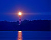 """Guiding Light3""- Assateague lighthouse still functions.  Photographed after dark 8-31-07."