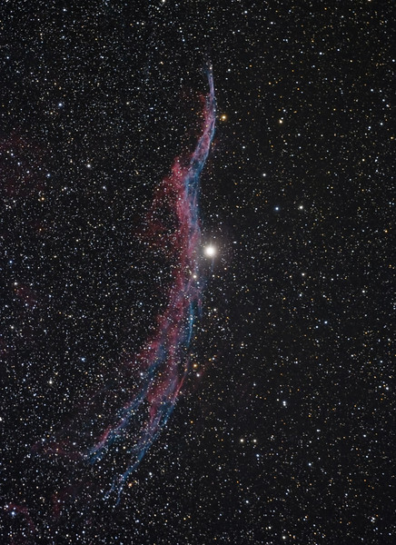 "NGC 6960 Western Veil Nebula<br /> July 2009<br /> 7"" Mak-Newt, CGE mount, Modified Canon XS, 6 x 300"