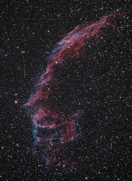 "NGC 6992 Eastern Veil Nebula<br /> August 2009<br /> 7"" Mak-Newt, CGE mount, Modified Canon XS, 10 x 300"