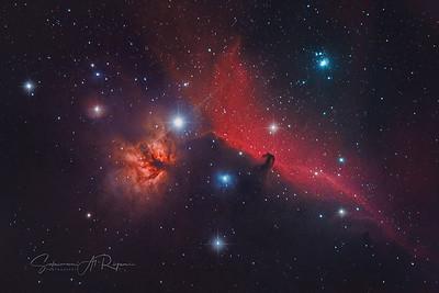 NGC 2024 (Flame Nebula) wit the Horse Head Nebula