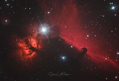 Horse Head & Flame Nebula, B33