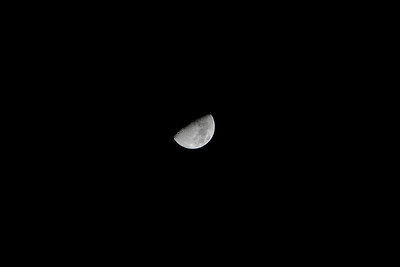 My first moon shot.  Taken with the 70-200 f/2.8L IS and EF 1.4x extender.  Cripped by my crappy tripod!