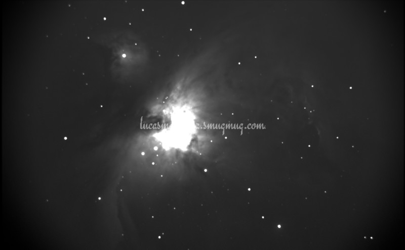 Orion Nebula (M42), B&W Photo - Colorado Springs, Colorado