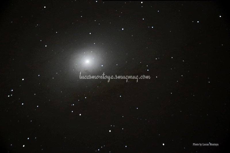 Looking down into M31, the Andromeda galaxy — in Colorado Springs, Colorado.