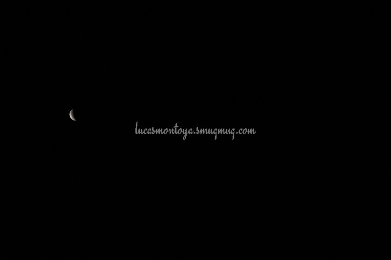 2014-04-15 Lunar Eclipse; exiting eclipse - the roundness of earth's shadow on the moon is very distinct