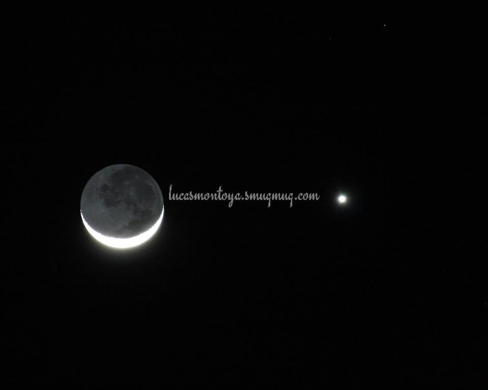 Moon/Venus Conjunction, 27 Feb 2009 - Colorado Springs, CO