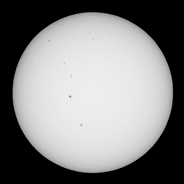 The Sun as seen from Sydney at 10:55 AEST on 2013-03-16<br /> <br /> Sony A100 DSLR with Sony 500/8 AF Reflex, 1/500 s, f/8, ISO 100.