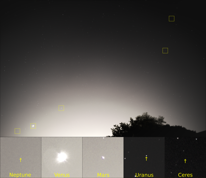5 planets at dusk