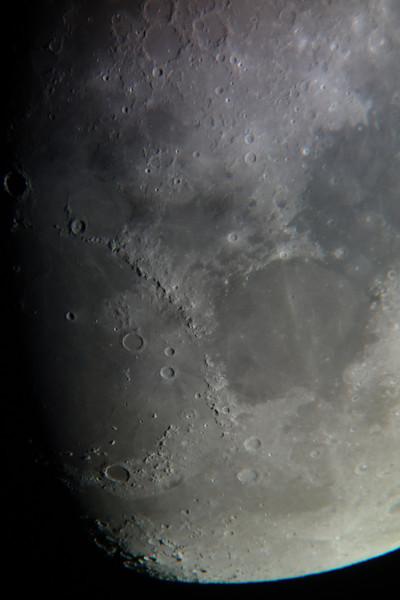 Moon from Sydney, 2014-01-10.<br /> <br /> Celestron Nexstar 127 SLT telescope with Sony RX100 camera.