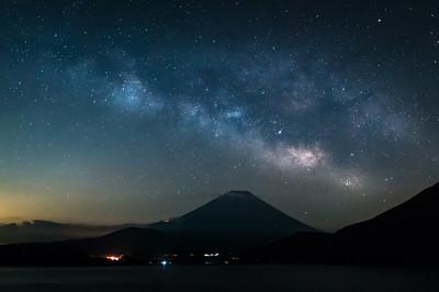 The Milky Way Draped Over Fuji