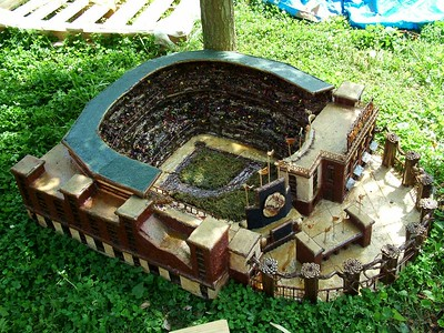 Model of Atlanta baseball stadium