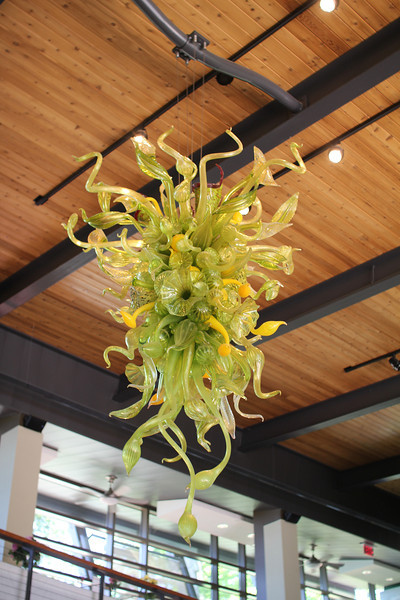 one of two remaining Chihuly pieces still at the Botanical Gardens