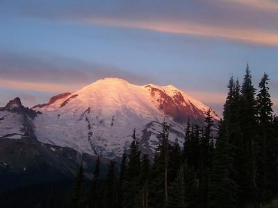 Sunrise on Mt. Rainier