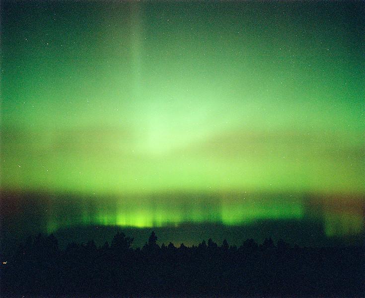 Northern lights near Mission, Oregon