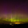 Northern lights over Walla Walla, Washington from Emigrant Hill, Oregon