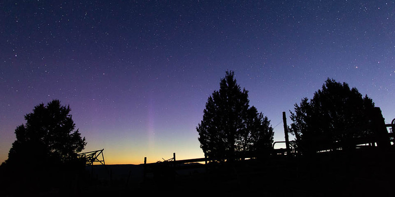 Northern lights over Ritter, Oregon