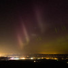 Northern lights over the Wildhorse Casino from Emigrant Hill in Oregon