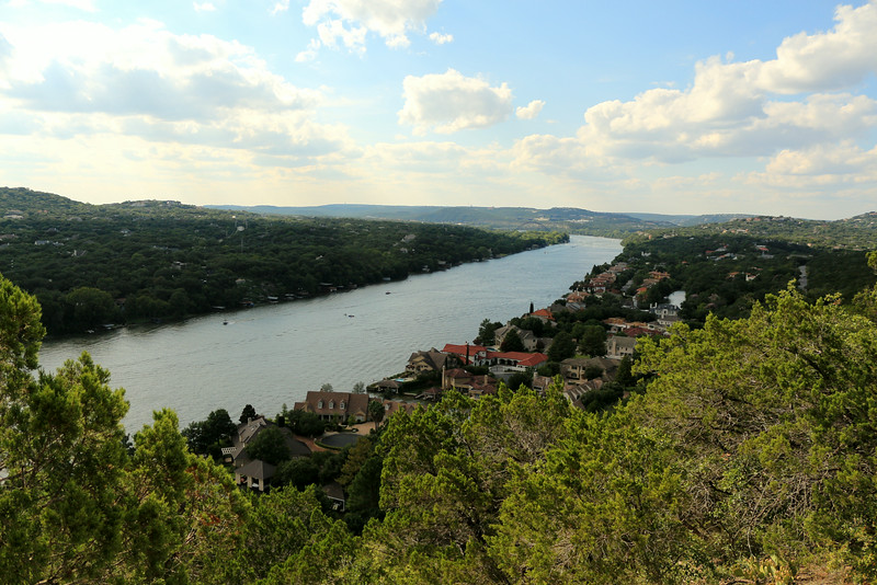 Colorado river from Mount Bonnell
