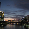Melbourne City Center, along Yarra River