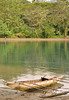 When placid, the waters of Waga Waga serve as a marvelous mirror to the surrounding jungle.