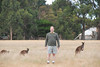 Scott in front of some wild kangaroos