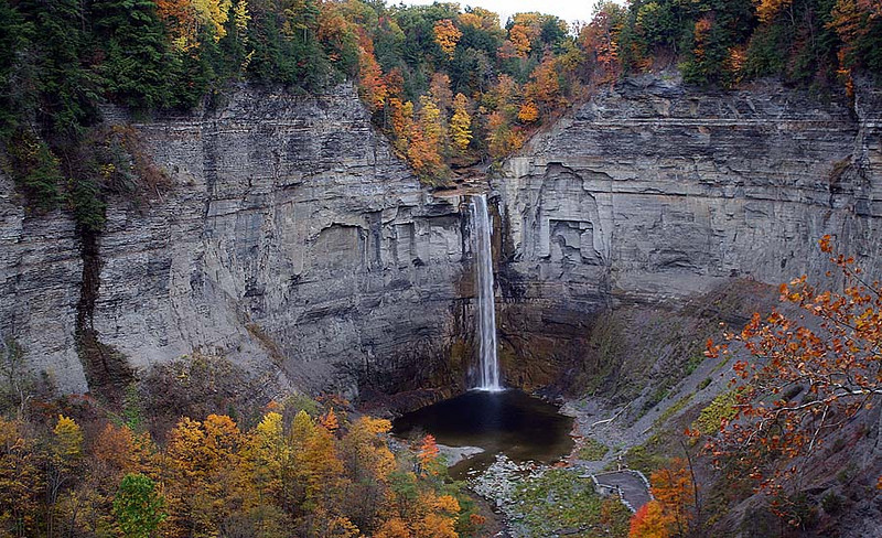 View of the Upper Falls, Taughannock State Park, Ithaca, NY