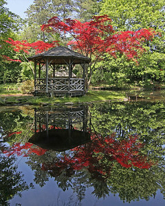 Pleasantville chateau gazebo with fall foliage