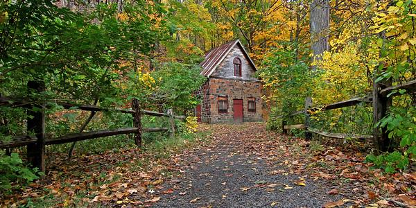 Autumn scene in Connecticut