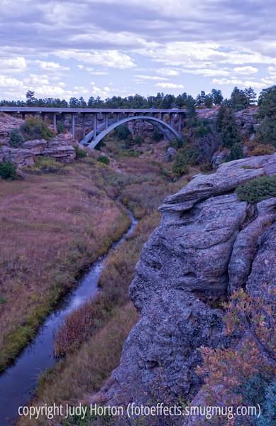 Castlewood Canyon State Park bridge overlook