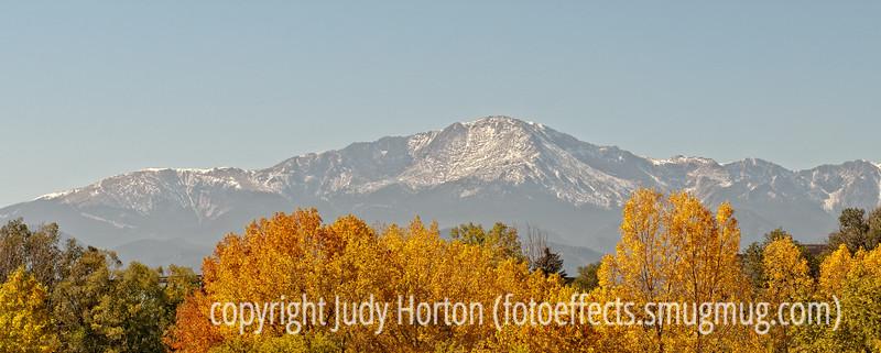 Pike's Peak in autumn