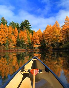 Autumn Canoe Ride on Fire Lake  4