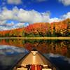 """ Autumn in a Canoe "" 4  Boulder Junction Wisconsin"