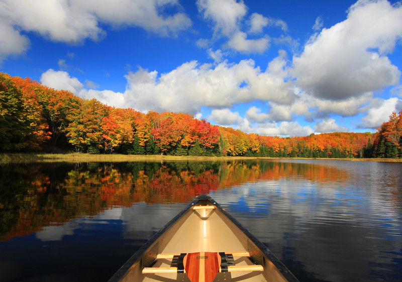 """ Autumn in a Canoe "" 3  Boulder Junction Wisconsin"