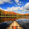 """ Autumn in a Canoe "" 3  Boulder Junction Wisconsin"