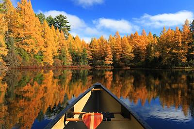 Autumn Canoe Ride on Fire Lake