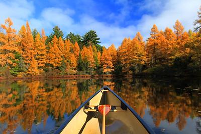 Autumn Canoe Ride on Fire Lake  2