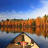 """Canoeing On Golden Pond in the Autumn"""