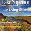 The Cover photo of Lake Superior Magazines October and November Issue 2013.