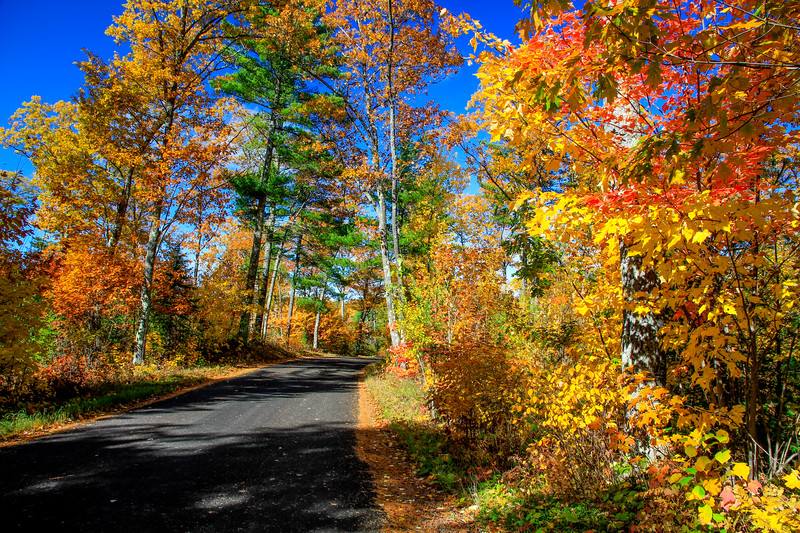 Autumn Roads - Big Muskellunge Lake Rd. 2