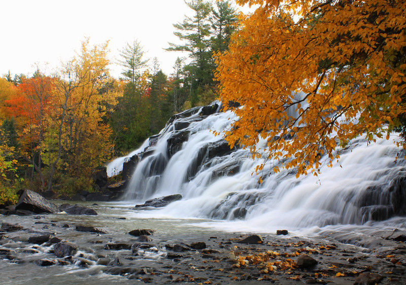 """ Bond Falls in the Fall ""  2 Bond Falls Paulding Michigan"