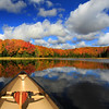 """ Autumn in a Canoe "" Boulder Junction Wisconsin"