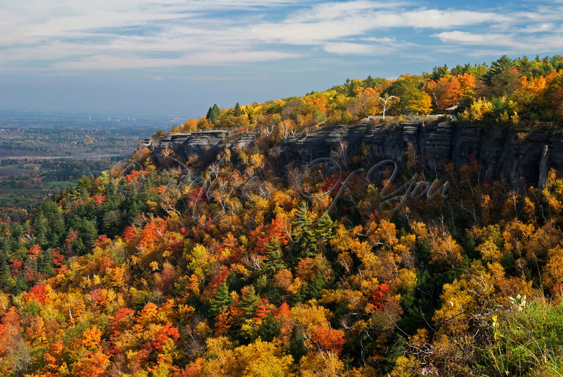 The overlook at John Boyd Thacher State Park, near Voorheesville, NY.