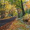 Autumn Roads - A Touch of Snow on Old Hwy K