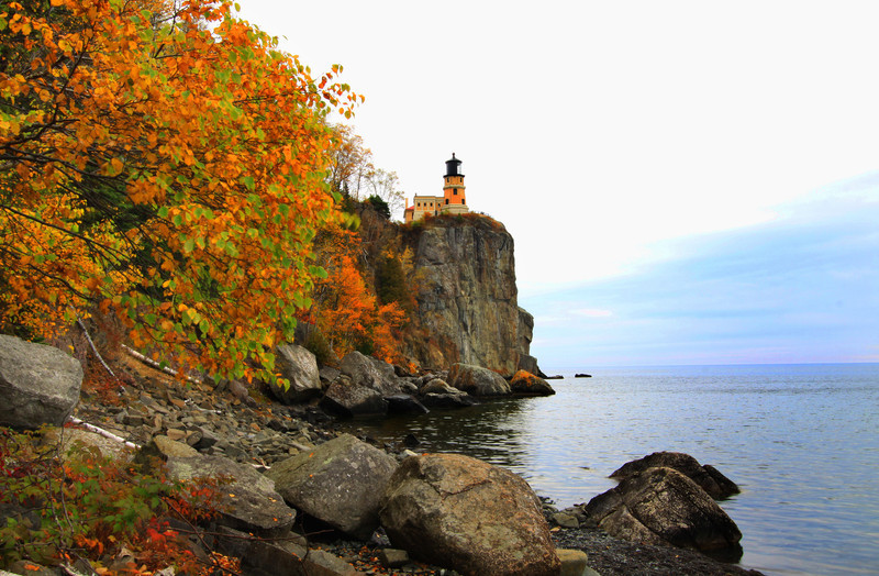 """Autumn at Two Harbors Lighthouse""  The North shore of Minnesota"