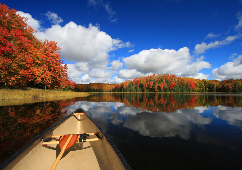 """ Autumn in a Canoe ""  4  Boulder Junction Wisconsin"