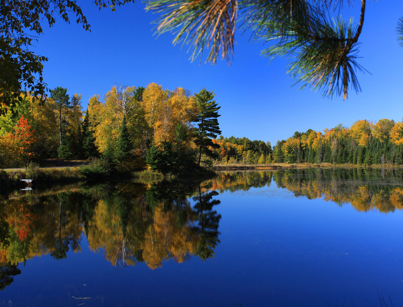 """ Autumns Blue Bayou "" 2  Boulder Junction Wisconsin"