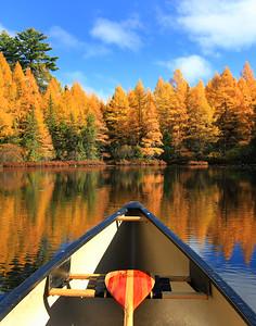 Autumn Canoe Ride on Fire Lake 3