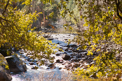Merced River running through Yosemite.